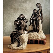 2 Piece Rodin's The Kiss and Ashore Figurine
