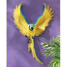 Phineas the Flapping Macaw Bird Wall Décor (Set of 2)