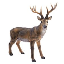 Big Rack Buck Deer Statue