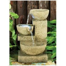 Villa Fortino Cascading Garden Resin Tiered Fountain