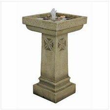 White Chapel Manor Garden Resin Column Fountain