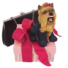 Yip Yap Yorkshire Terrier Puppy Dog Statue
