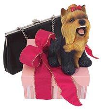 Yip Yap Yorkshire Terrier Puppy Dog Figurine (Set of 2)