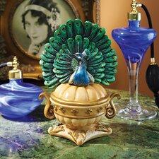 Preening Peacock Jewelry Box