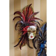 Venezia Feathered Carnivale Mask