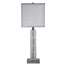 Crystal Cascade Table Lamp with Square Shade (Set of 2)