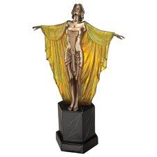 Majestic Maiden Art Deco Illuminated Sculpture