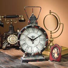 Gotham Steampunk Metal Table Clock