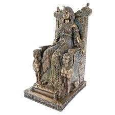 Queen Cleopatra on the Egyptian Throne Statue