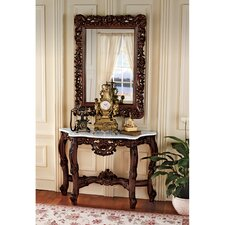 Royal Baroque Console Table and Mirror Set