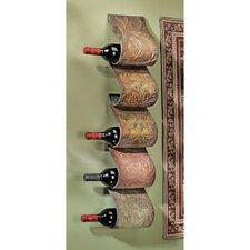 Cafe De Paris 5 Bottle Wall Mounted Wine Rack