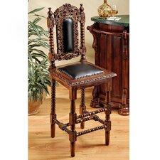 "Charles II Gothic 31"" Bar Stool with Cushion"