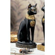 Egyptian Cat Goddess Bastet with Earrings Figurine