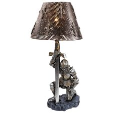 """At Battle's End Sculptural 22"""" H Table Lamp with Empire Shade"""