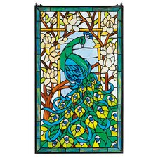 Peacock's Paradise Stained Glass Window