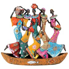 The Maiden Water Carriers of Ghana Figurine