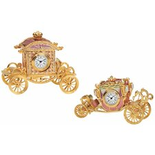 2 Piece Collectible Carriages Clock Set