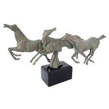Wild Stallion Horses Figurine