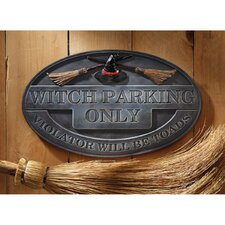 Witch Parking Sign Wall Plaque