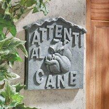 """Beware of Dog Italian """"Attenti al Cane"""" Wall Décor"""