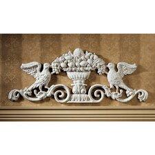 Urn Ornamental Architectural Pediment Wall Décor