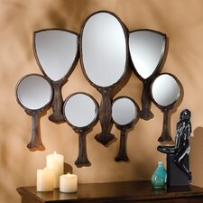 "30.5"" H x 31"" W Reflective Gaze Hand Mirror Wall Décor"