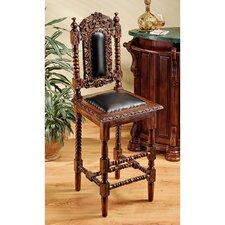 "Charles II Gothic 31"" Bar Stool with Cushion (Set of 2)"