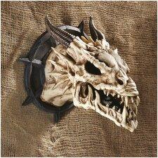 Horned Dragon Skull Wall Décor (Set of 2)