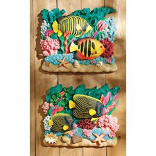 2 Piece Great Barrier Reef Fish Wall Décor Set