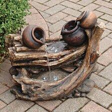 Three Urn Garden Fountain