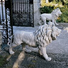 Regal Lion Sentinels of Grisham Manor Statue (Set of 2)