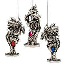 Dragons of the Amesbury Holiday Gemstone Ornament (Set of 3)