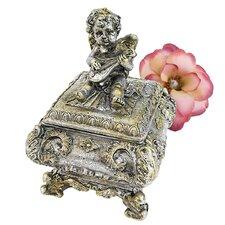 Cherub Musician Sculptural Box