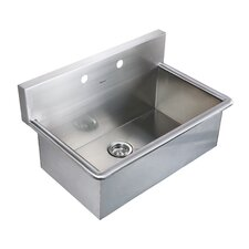 "Noah's 31"" x 19.5"" Stainless Steel Commercial Drop-In Laundry-Scrub Kitchen Sink"