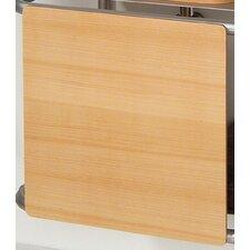 Aeri Wood Square Sliding Door for Aluminum Structures Dual Shelf