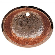 Decorative Undermount Oval Hammered Textured Basin