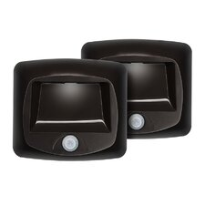 Battery Operated Indoor/Outdoor Motion-Sensing LED Step/Stair Light (Set of 2)