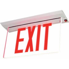 Single Face Recessed Edge Lit LED Exit Sign Light