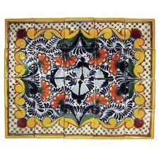"Golondrina 20"" x 16"" Hand Painted Talavera Mural (Set of 20)"