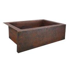 """Pinnacle 33"""" x 22"""" Copper Kitchen Sink"""