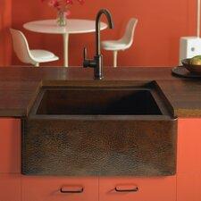"Farmhouse 25.5"" x 22"" Copper Kitchen Sink"