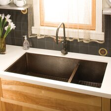 """Cocina 40"""" x 22"""" Duet Pro Copper Kitchen Sink"""