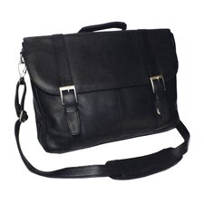 Genuine Leather Vaquetta Triple Compartment Laptop Briefcase