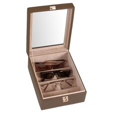 Executive 4 Slot Eyeglass Display Case