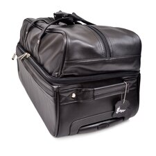 "Royce Leather Executive 23"" 2-Wheeled Travel Duffel"