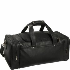 "Luxury Genuine 21.5"" Leather Gym Duffel"