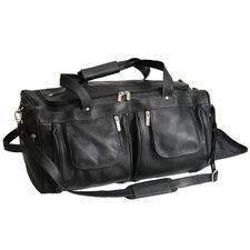 "Luxury Colombian Genuine 21.5"" Leather Carry-On Duffel"