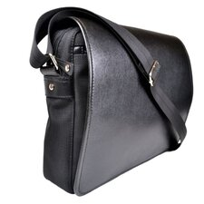 Saffiano Genuine Leather Laptop Messenger Bag
