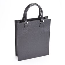 Saffiano Genuine Leather Executive Women's Laptop Tote Briefcase