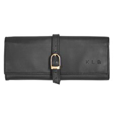 Royce Leather Suede Lined Jewelry Roll Travel Case in Vegan Leather